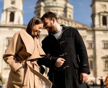 Lánykérés a Bazilika előtt