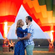 Hőlégballonos lánykérés